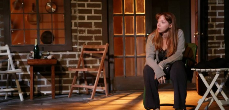 """Rachel Greshes as 'Catherine' in the Henegar Center's production of """"Proof."""" Photo by Dana Niemeier."""