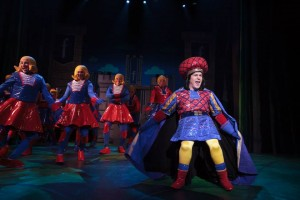 Benjamin Cox as Lord Farquaad in 'Shrek: The Musical' at Cocoa Village Playhouse. Photo by Jonathan Goforth.