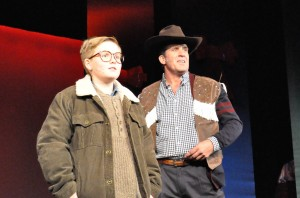 L to R: Elijah McGough and Patrick Ryan Sullivan in 'A Christmas Story: The Musical' at Titusville Playhouse