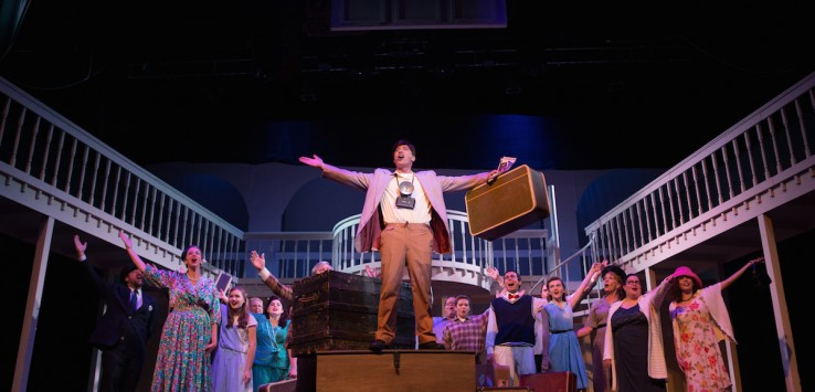 "David Baum leads the cast in the Henegar's 'A Wonderful Life: The Musical"" Photo by Dana Niemeier"
