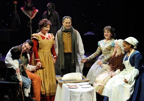 Cast of 'A Christmas Carol' at Orlando Shakepeare Theatre. Photo by Tony Firriolo.