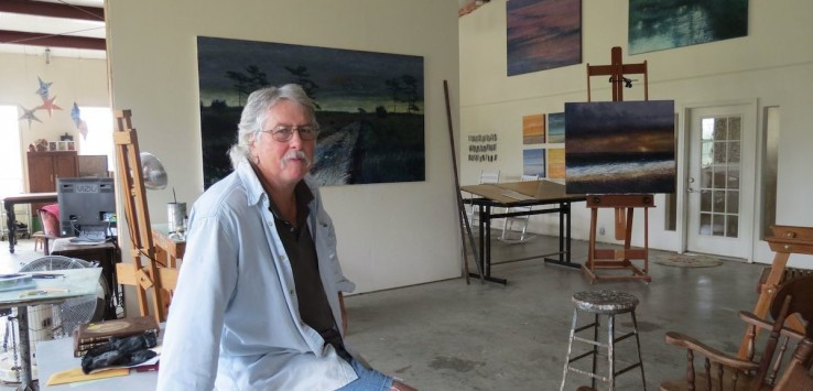 Larry Leach in his studio in Portal, Georgia. Photo by Pam Harbaugh
