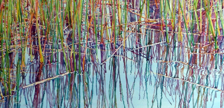 """Nature's Weaving"" a watercolor by Nancy Crawford"