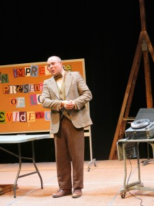 Jim Van Valen in 'Underneath the Lintel' at Riverside Theatre.
