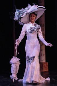 "Costume designer Dan Hill constructed this costume for Eliana Berrean to wear as Eliza Doolittle in Cocoa Village Playhouse's ""My Fair Lady"""