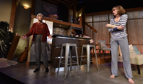 "Production photo by Tony Firriolo features Orlando Shakes' cast of ""Bad Dog."""