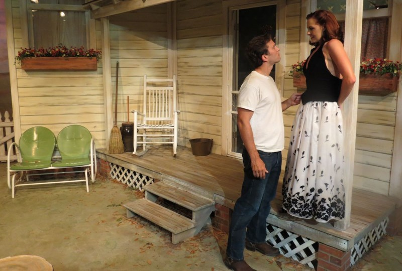 Damon Dennin and Mary Carson Wouters in 'Picnic' at Melbourne Civic Theatre. Photo by Pam Harbaugh.