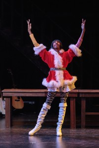 "Patrick Marshall as Angel in ""Rent"" at Cocoa Village Playhouse."