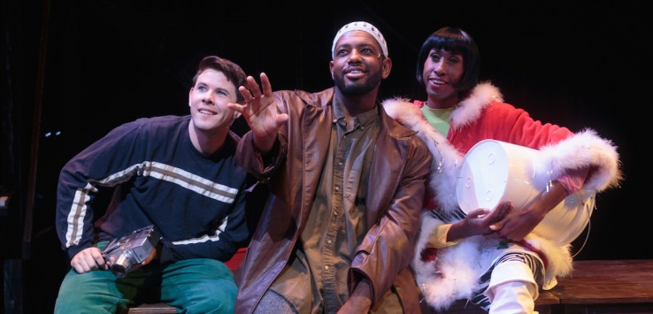 Matthew Booker, Johnathan Shepherd and Patrick Marshall in 'Rent' at Cocoa Village Playhouse.