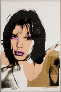 Image credit: Andy Warhol, Mick Jagger #9, 1975. Screenprint in color, ed. 11/250, 43 1/2 x 29 inches. Gift of Dr. and Mrs. Henry Hope. Collection of NSU Art Museum Fort Lauderdale, 76.6.Photo courtesy of NSU Art Museum Fort Lauderdale. © 2015 The Andy Warhol Foundation for the Visual Arts, Inc. / Artists Rights Society (ARS), New York