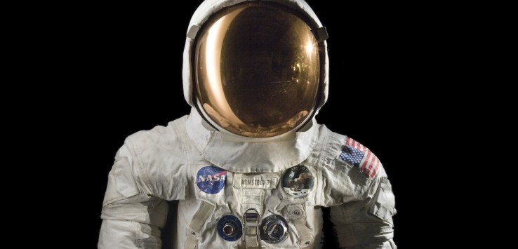 This spacesuit was worn by astronaut Neil Armstrong, Commander of the Apollo 11 mission, which landed the first man on the moon on July 20, 1969. Credit - Smithsonian Institution