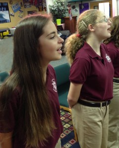 Christy Chadwick and Emily Carey, members of the Brevard Youth Chorus