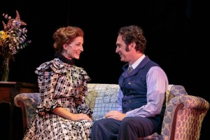 Kari Ryan Furr and Jason Reichman in 'Sherlock in Love' at Cocoa Village Playhouse. Photo by Amy Goforth.