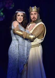 Dee Roscioli and Davis Gaines in Orlando Shakepeare Theatre's 'Spamalot' photo by Tony Firriolo.