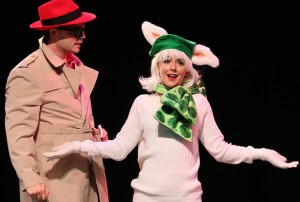 Ian Thompson and Kelsey Flanner in 'Poodleful!' at Riverside Theatre.