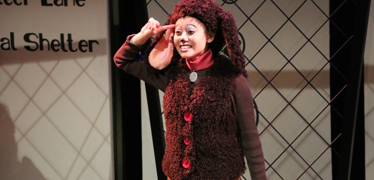 Samantha Cho Grossman as 'Pansy' in 'Poodleful!' at Riverside Theatre.