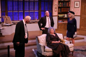 From left: David Baum, Steven Costner, Susan Suomi and Mary Carson Wouters in 'The Curious Savage' at Melbourne Civic Theatre. Photo by Max Thornton.