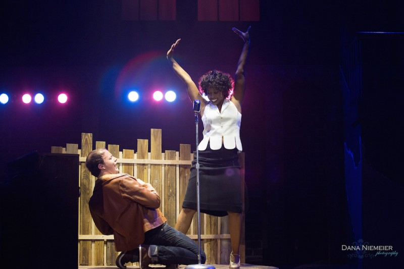 "Joey Paris and Shara Kyles in ""Memphis"" at the Henegar Center. Photo by Dana Neimeier"