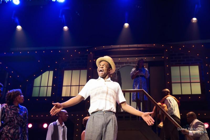 Bobby Postell as 'Gator' in the musical 'Memphis' at the Henegar Center. Photo by Dana Neimeier
