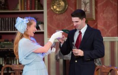 Sarah French and Robert Johnston in Mad Cow Theatre's 'You Can't Take It with You'