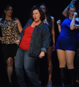 Traci McGough  as Georgie in 'The Full Monty' at Titusville Playhouse