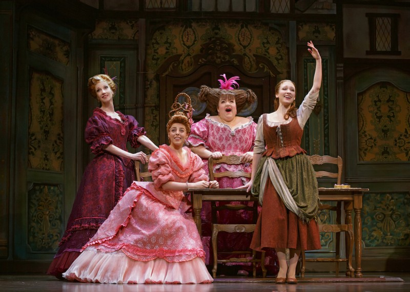 (L to R) Blair Ross, Kimberly Fauré, Aymee Garcia and Kaitlyn Davidson from the Rodgers + Hammerstein's CINDERELLA tour. Photo by Carol Rosegg