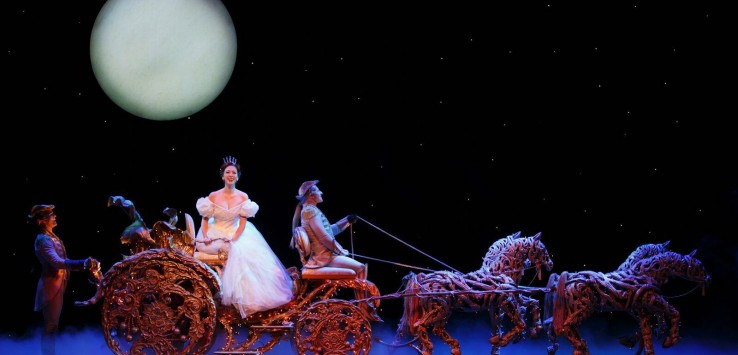 From left: Eric Anthony Johnson, \ Kaitlyn Davidson and Chip Abbott from the Rodgers + Hammerstein's CINDERELLA tour. Photo by Carol Rosegg