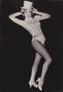 "Mitzi Hamilton in costume for ""A Chorus Line"""