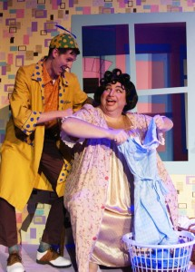 "From left: Greg Coleman and Steven Heron in Titusville Playhouse production of ""Hairspray"""