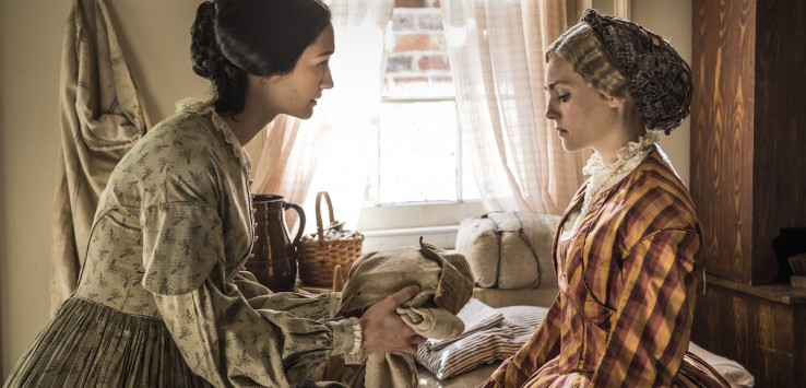 "Emma Green (Hannah James) and Alice Green (AnnaSophia Robb) in PBS series ""Mercy Street."" Photo Credit: Courtesy of Antony Platt/PBS"