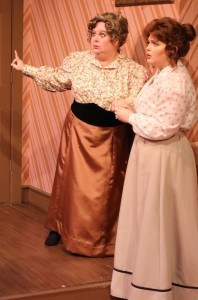 "Victoria Smith and Tori Terhune in Melbourne Civic Theatre's ""The Underpants"""
