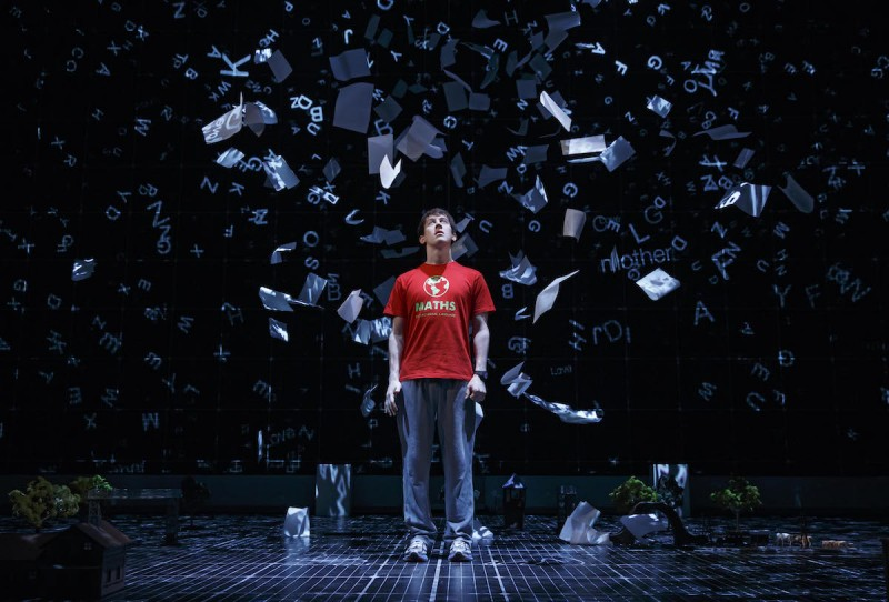 The National Theatre production of THE CURIOUS INCIDENT OF THE DOG IN THE NIGHT-TIME On Broadway at the Barrymore Theatre (243 W 47th Street)  Previews: Wednesday, September 9, 2014  Opening: Sunday, October 5, 2014 Pictured: Alex Sharp Photograph by Joan Marcus, 2014