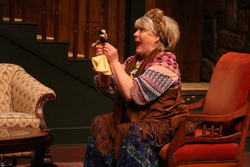 "Cathel Carlson in Riverside Theatre's ""Vanya and Sonia and Masha and Spike."""