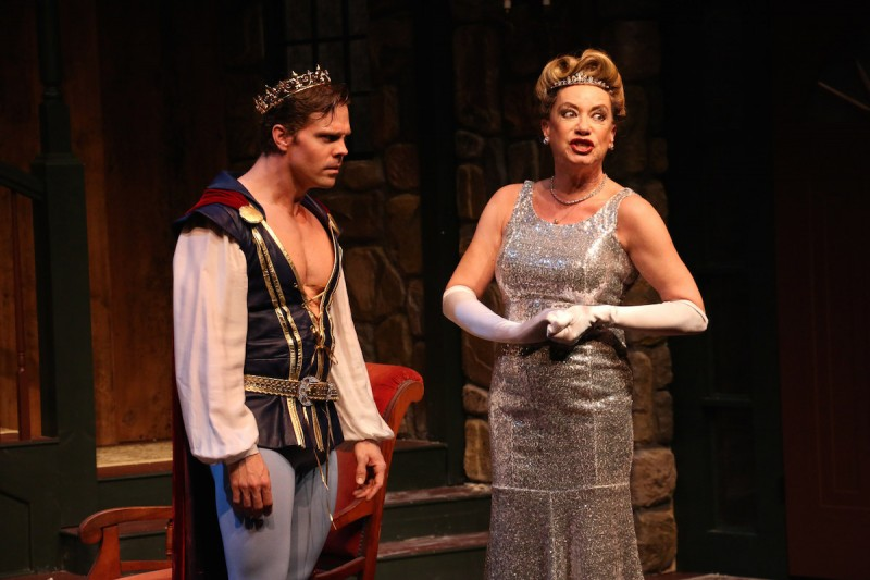 "Brian Ogilvie and Susan Cella in Riverside Theatre's ""Vanya and Sonia and Masha and Spike."""