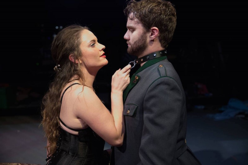 "Shanise Jordan and Zack Roundy in ""Venus in Fur"" photo by Dana Niemeier"