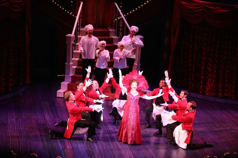 "Michele Ragusa as Dolly Gallagher Levi in Riverside Theatre's production of ""Hello, Dolly!"""