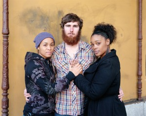 """Richard Renaldi's """"Tari, Shawn, and Summer, Los Angeles, CA, 2012."""" from his 'Touching Strangers' series. Photo courtesy of the artist."""