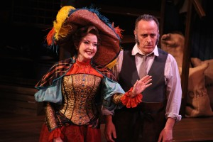 "Michele Ragusa and Adam Heller in Riverside Theatre's production of ""Hello, Dolly!"""