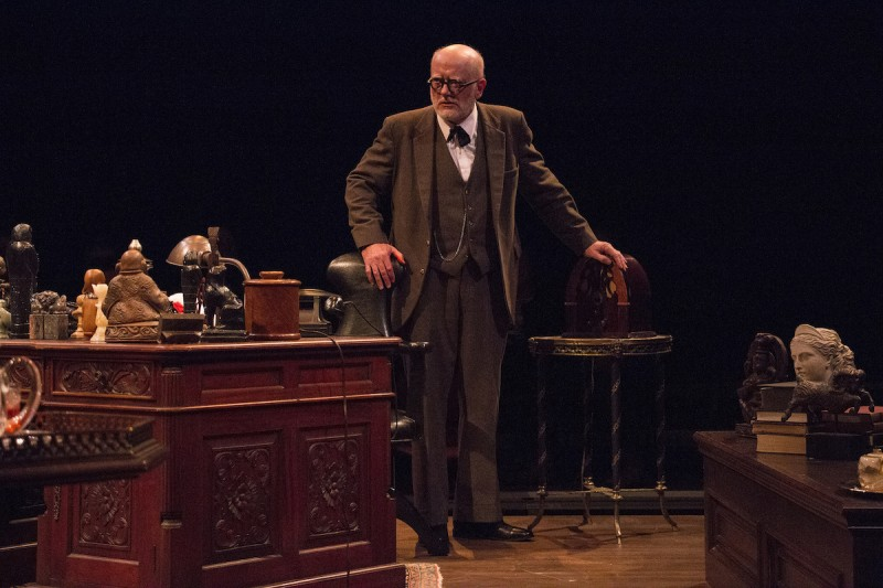 "Steve Brady as Freud in ""Freud's Last Session"" at Riverside Theatre."