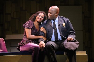 """Dan'yelle Williamson and Kent Overshown in """"Sister Act"""" at Riverside Theatre"""
