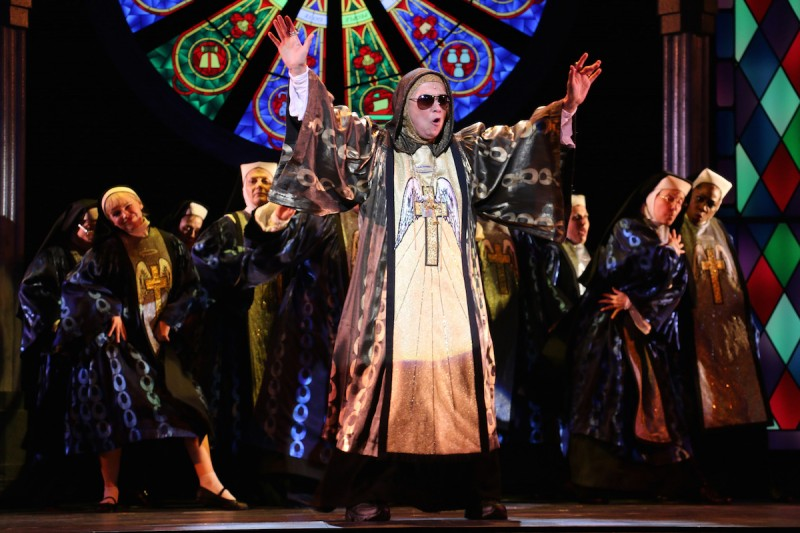 """Diane Findlay in """"Sister Act"""" at Riverside Theatre"""