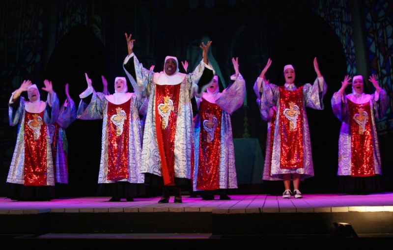 """Sister Act"" at Titusville Playhouse, starring Reca Oakley. Photo by Doug Lebo"