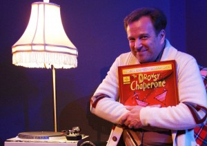 "Mark Hardin as The Man in the Chair in Titusville Playhouse's ""The Drowsy Chaperone."""