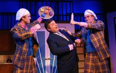 "Josh Kolb, Jonathon Adler and Ben Youmans in Titusville Playhouse production of ""The Drowsy Chaperone."""