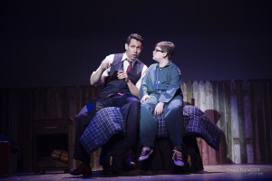 "Omar Montes and Aidan Holihan in Henegar Center production of ""Big Fish."" Photo by Dana Niemeier"