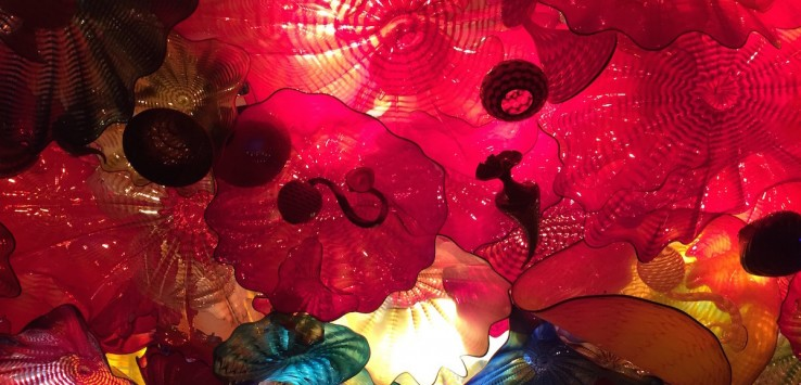 Chihuly Ceiling at the Makers Mark Distillery visitors center. Photo by Pam Harbaugh.