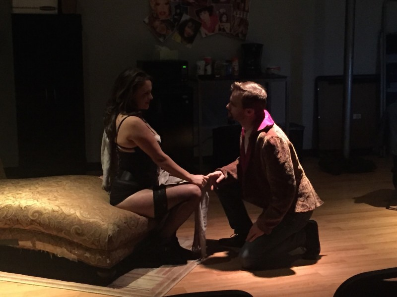 Shanise Jordan and Zack Roundy in VENUS IN FUR at the Edge Theater Company, Orlando.