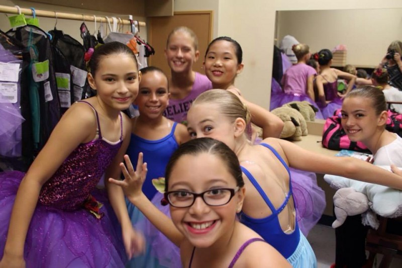 Space Coast Ballet students backstage before the 2015 Showcase