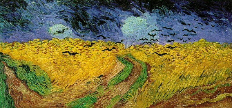 By Vincent van Gogh - http://www.southern.net/wm/paint/auth/gogh/fields/gogh.threatening-skies.jpgSource description: http://www.southern.net/wm/paint/auth/gogh/fields/, Public Domain, https://commons.wikimedia.org/w/index.php?curid=92718