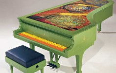 Chihuly Olympia 2 art case Steinway